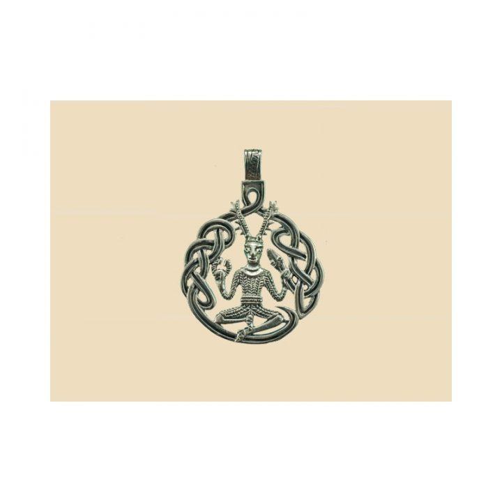 Keltische Cernunnos Hanger Zilver