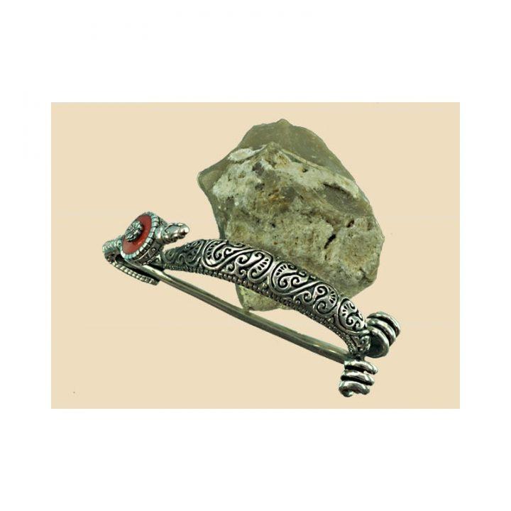 Keltische Fibula Zilver