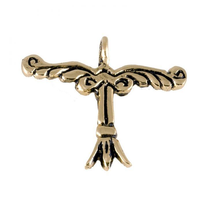 Keltische Irminsul hanger Brons