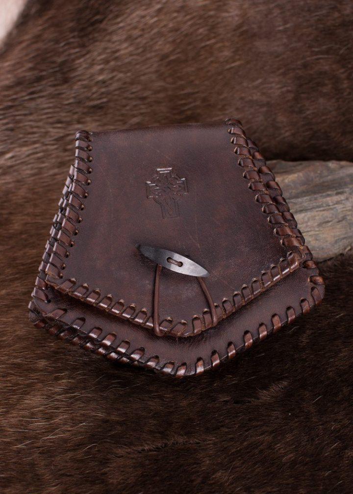 Keltische Lederen Tas Bruin
