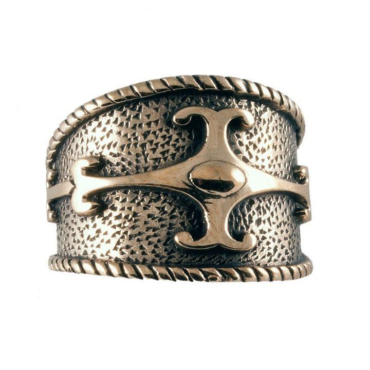 Keltische Ring Brons Groot