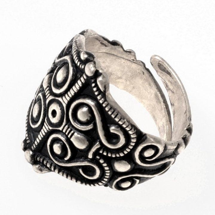 Keltische Ring 4e-5e eeuws Verzilvert