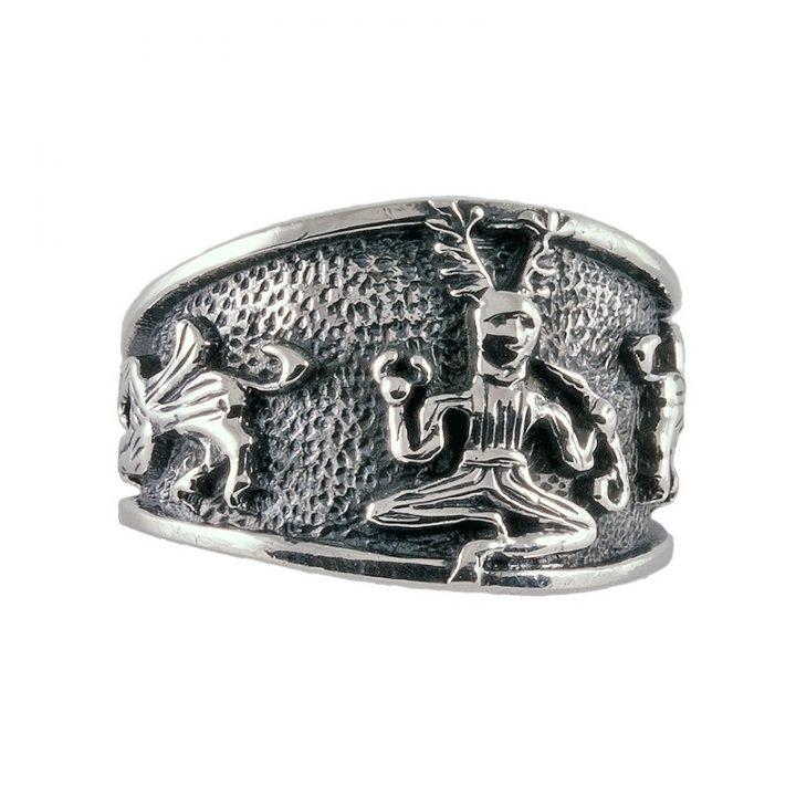 Keltischer Ring Silber Gross