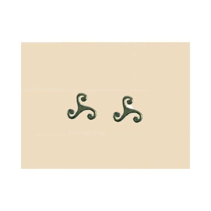 Keltische Triskel Oorbellen Zilver