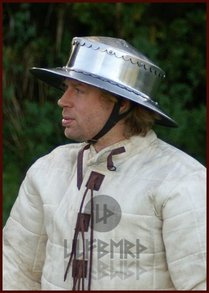 Monnikskap Helm 14e eeuws in maat S,M,L