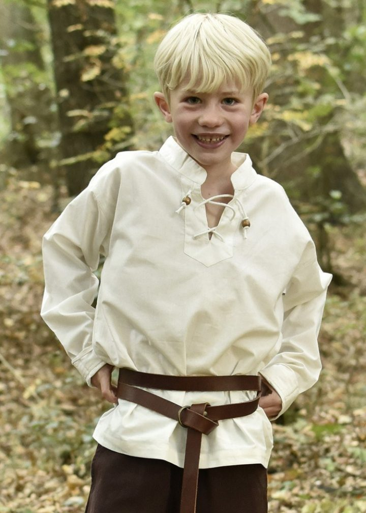 Kinder Blouse in Natuurkleur