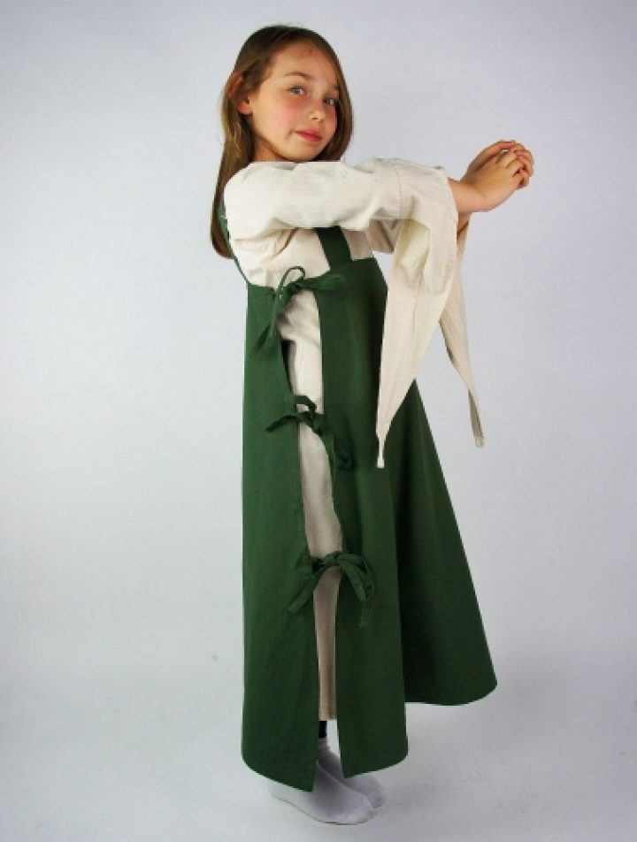 Wikinger Kinder Überkleid in Grun