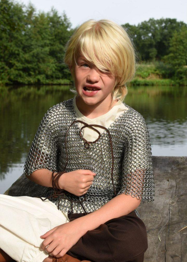 Kettenhemd für Kinder, verzinkter Stahl, Mass 146
