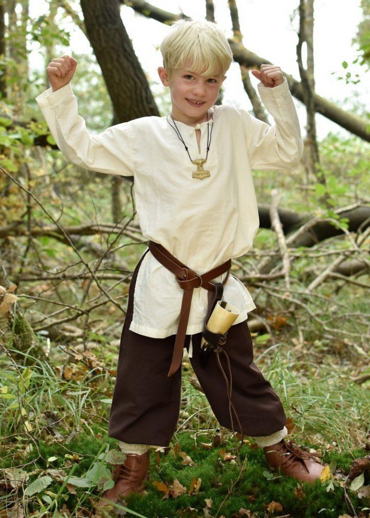 Middeleeuwse Kinderbroek in Bruin