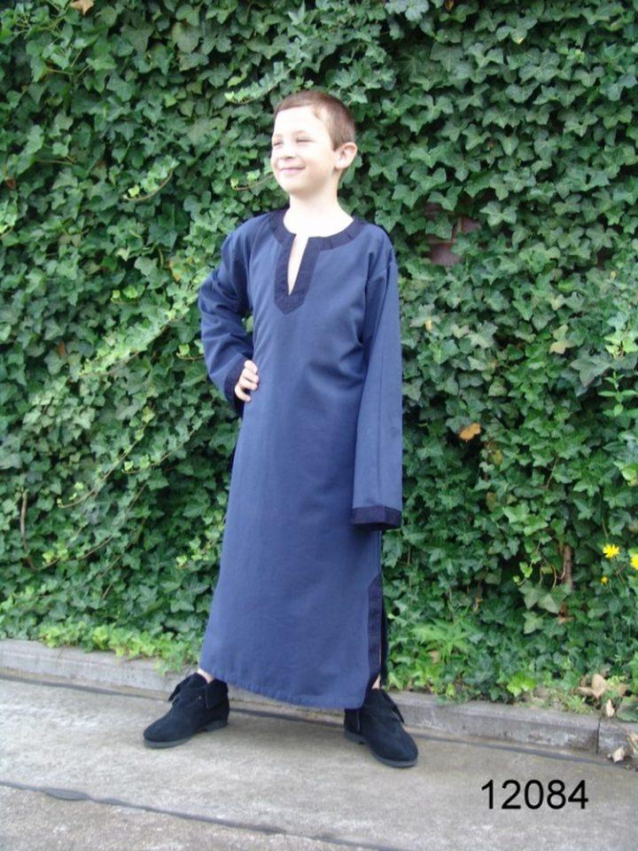 Viking- Middeleeuws Kinder Tuniek Blauw