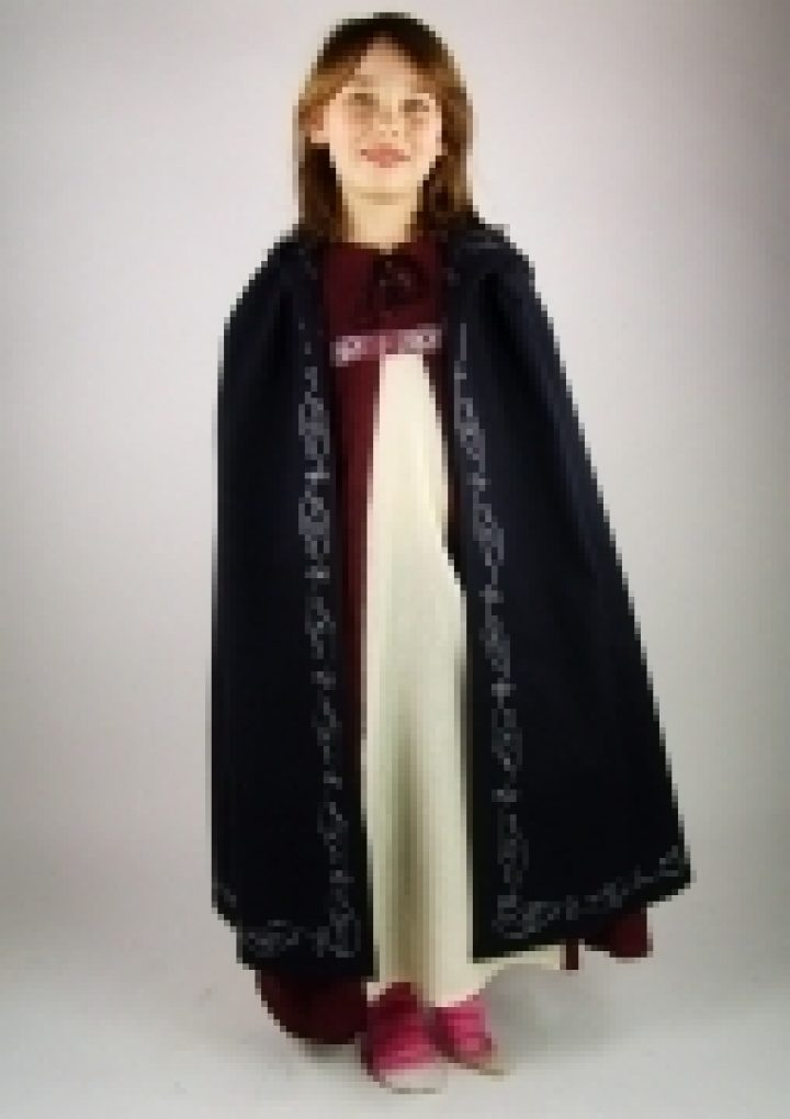 Mittelalter Kinder Cape mit Bordure