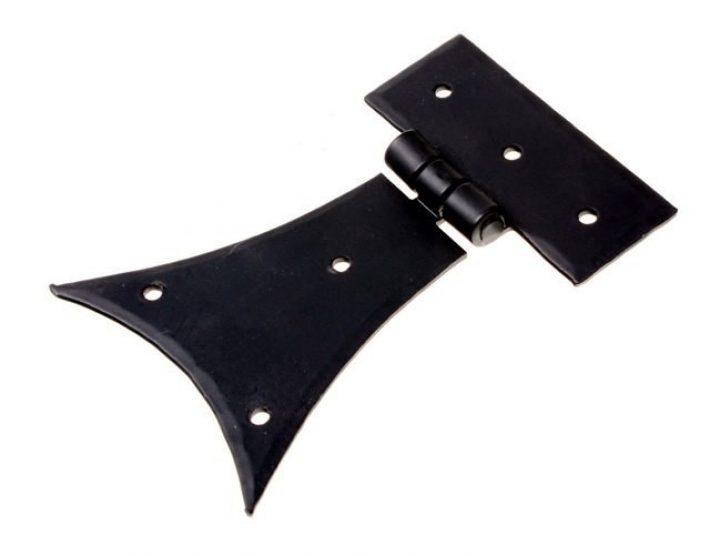 Handgeschmiedete truhen Scharnier mit elegant geschweiften Seiten