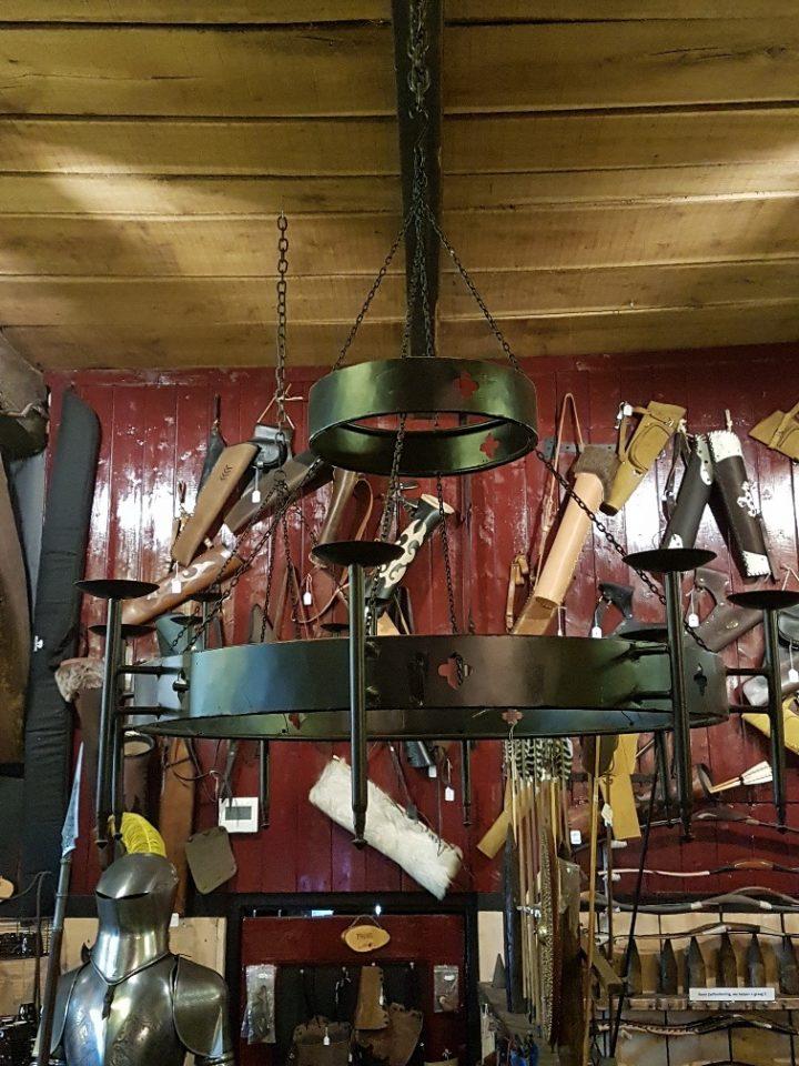 Kroonluchter twee laags voor 8 kaarsen/lampen