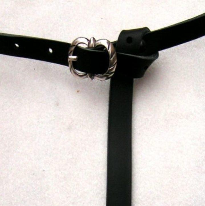 Laat Middeleeuwse Riem 1250 - 1400 Zwart van 1.5 cm