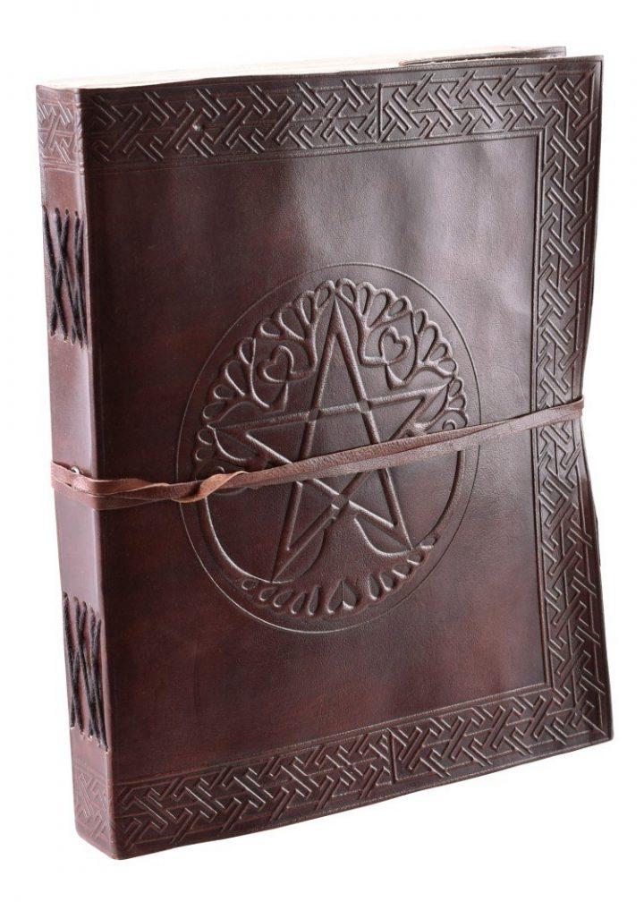 Lederen Boek Groot met Pentagram