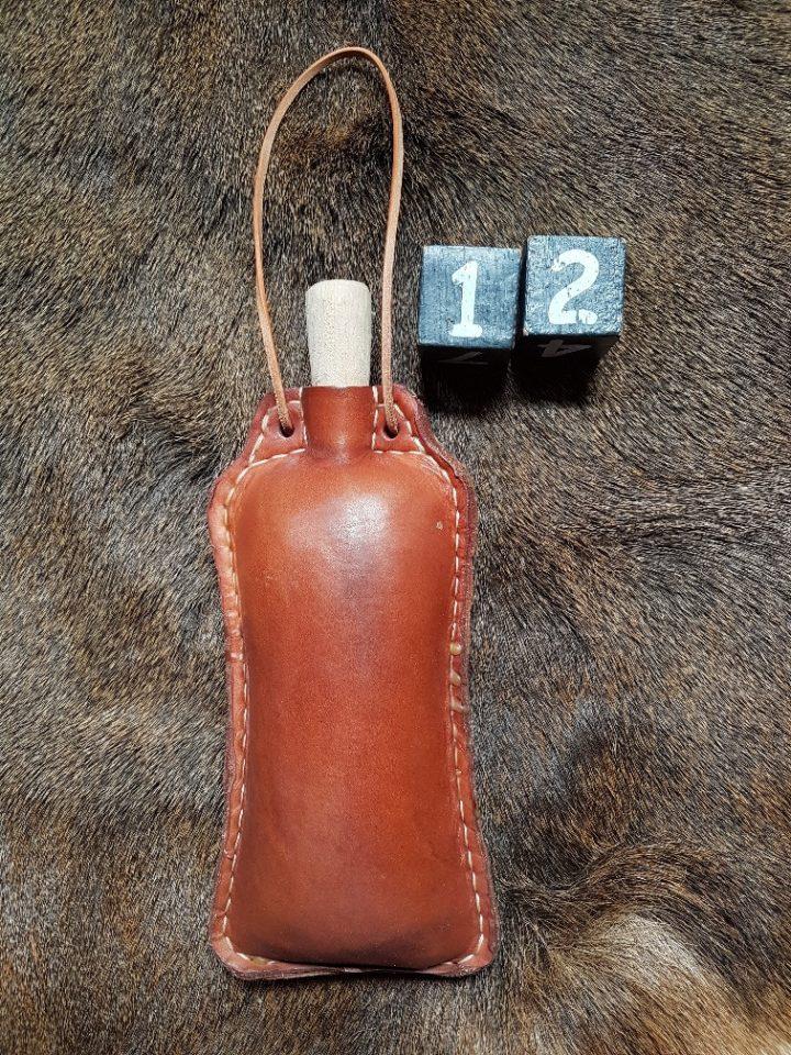 Trinkflasche von Leder mit Bienenwachs 0.70 liter