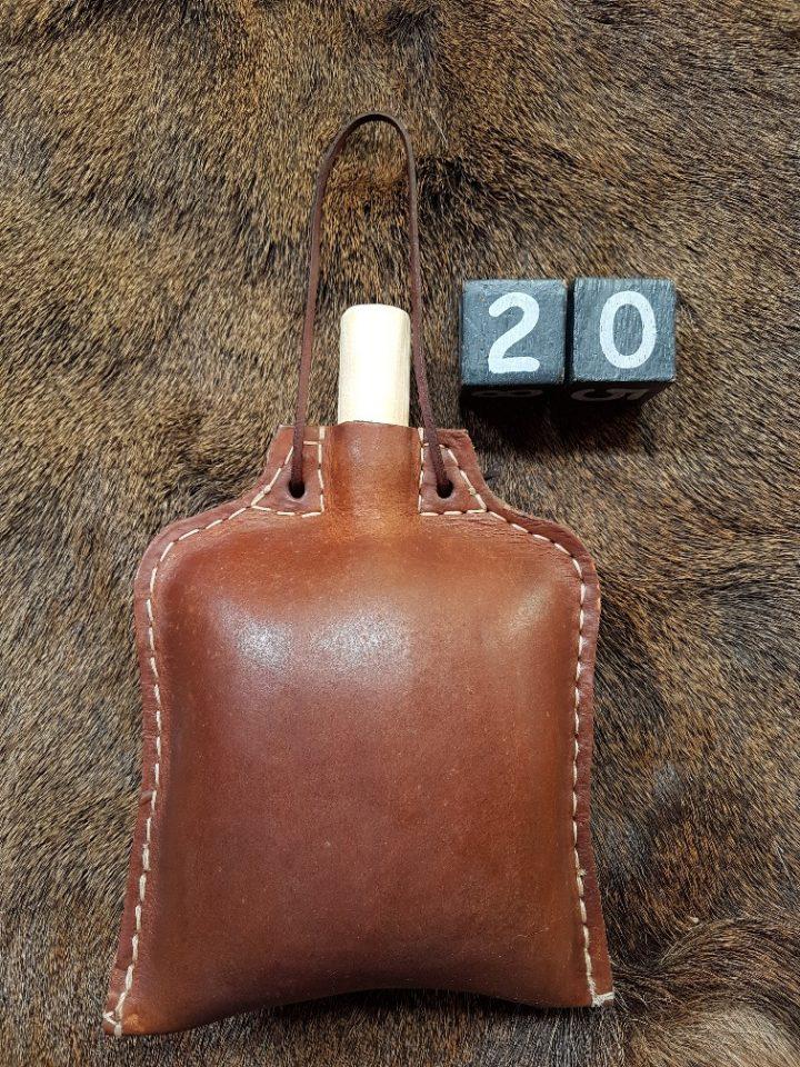 Trinkflasche von Leder mit Bienenwachs 1.2 liter