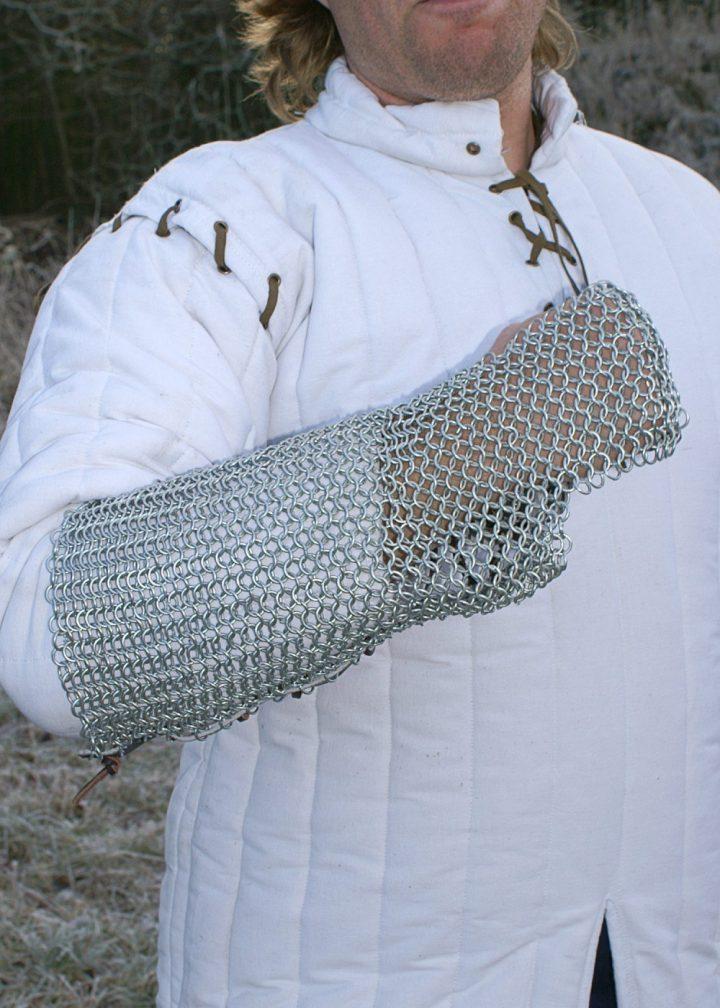 Maliënkolder Armbescherming, ronde ring, verzinkt