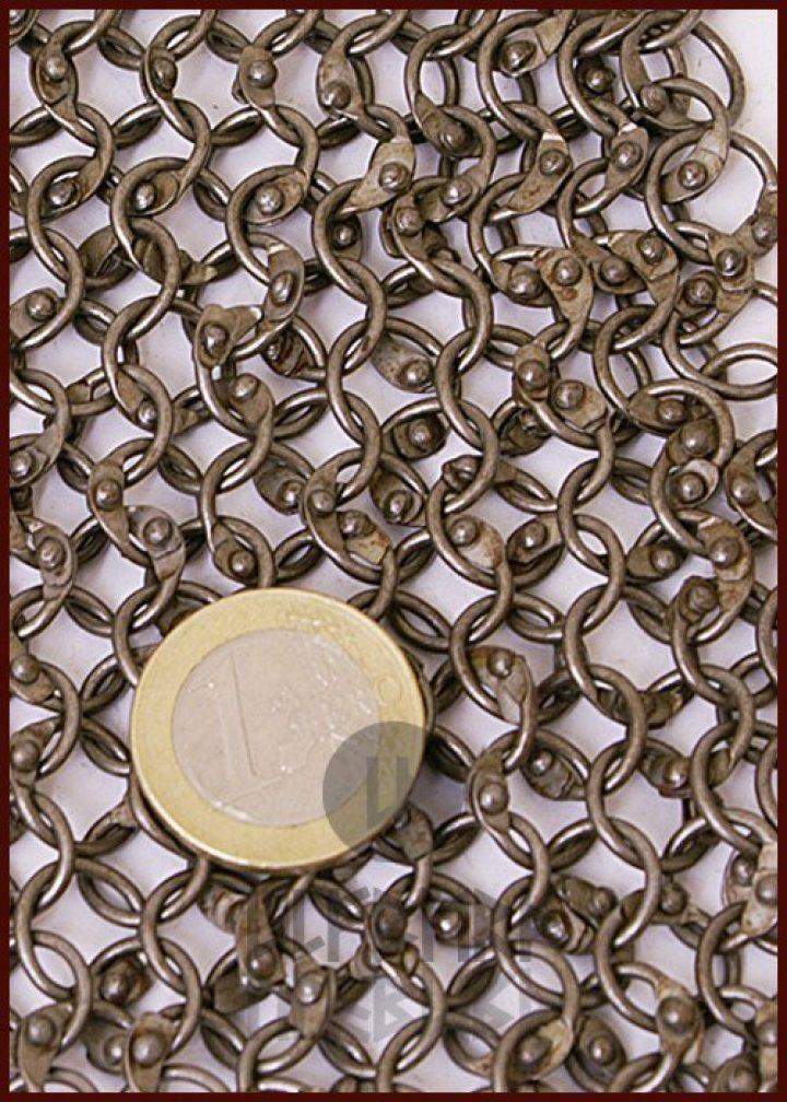 Maliënkolder Stuk van 20x20 cm, ronde ring, verniet en verzinkt