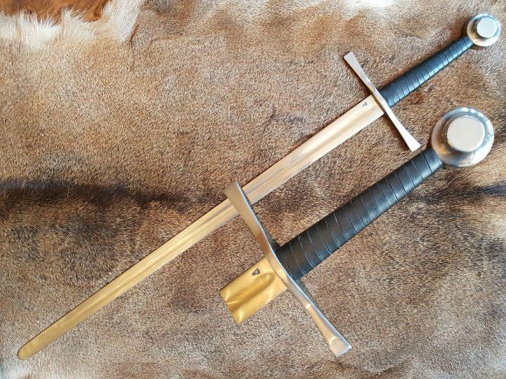 Gotisch 1.5 hand zwaard XIII-XIV Zwart