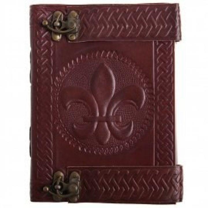 Mittelalter Tagebuch, Journal mit Fleur-de-Lis-Prägung
