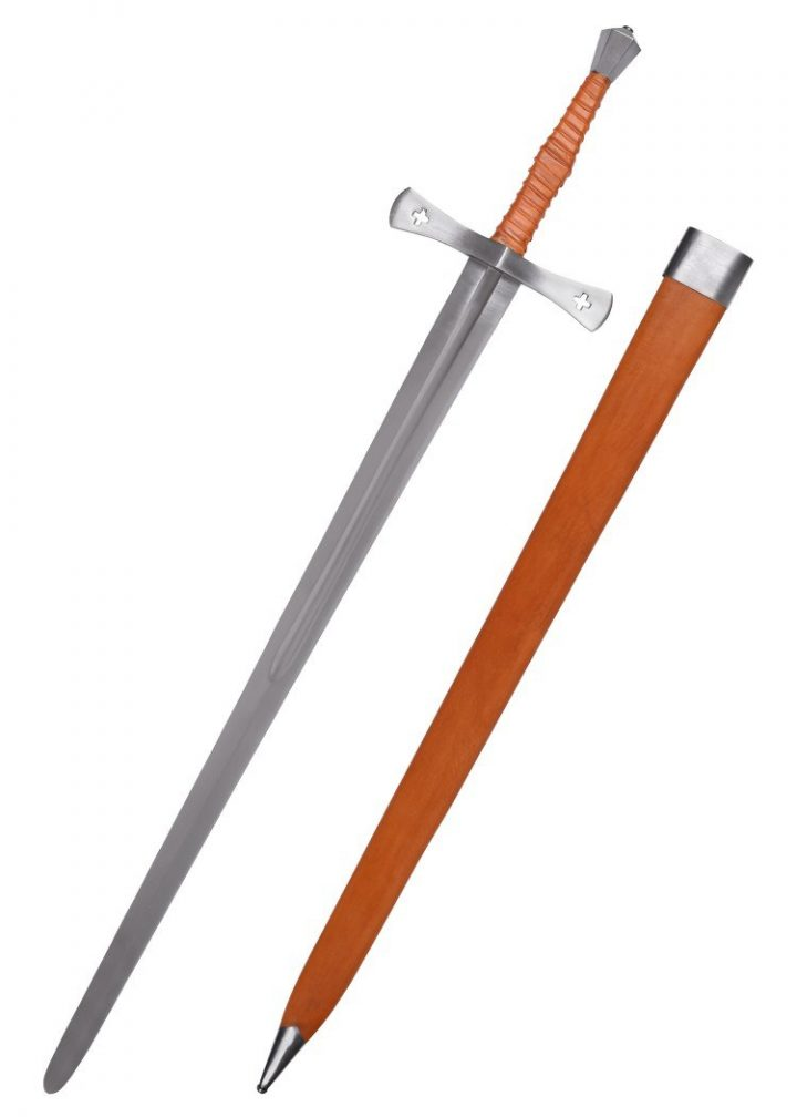 Shrewsbury Mittelalterschwert mit Scheide, 15. Jh., Dekoschwert