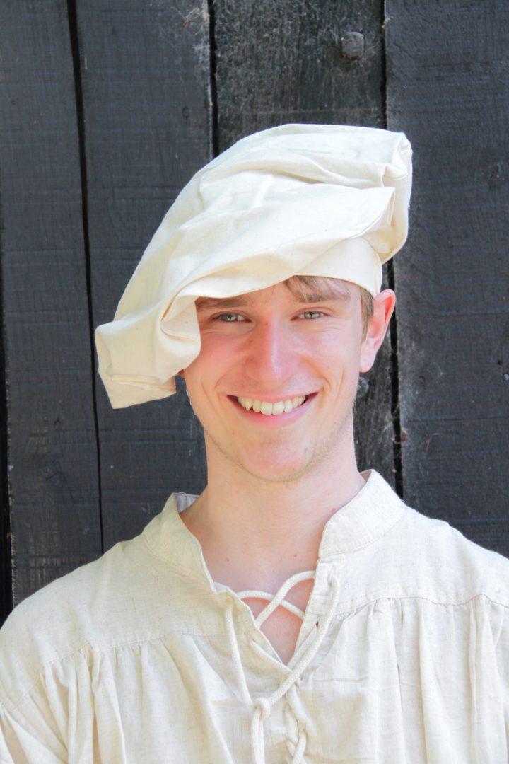 Middeleeuwse Baret Beige