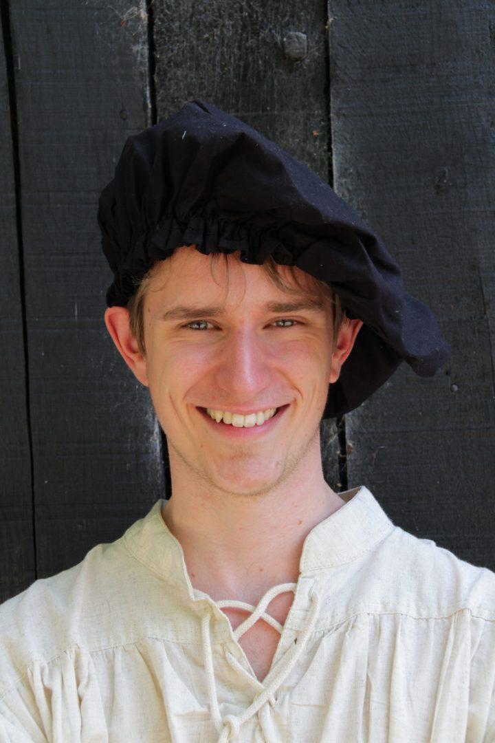 Middeleeuwse Baret Zwart