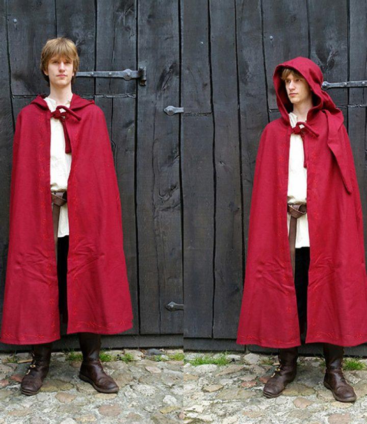 Middeleeuwse Cape Rood met Stiksels