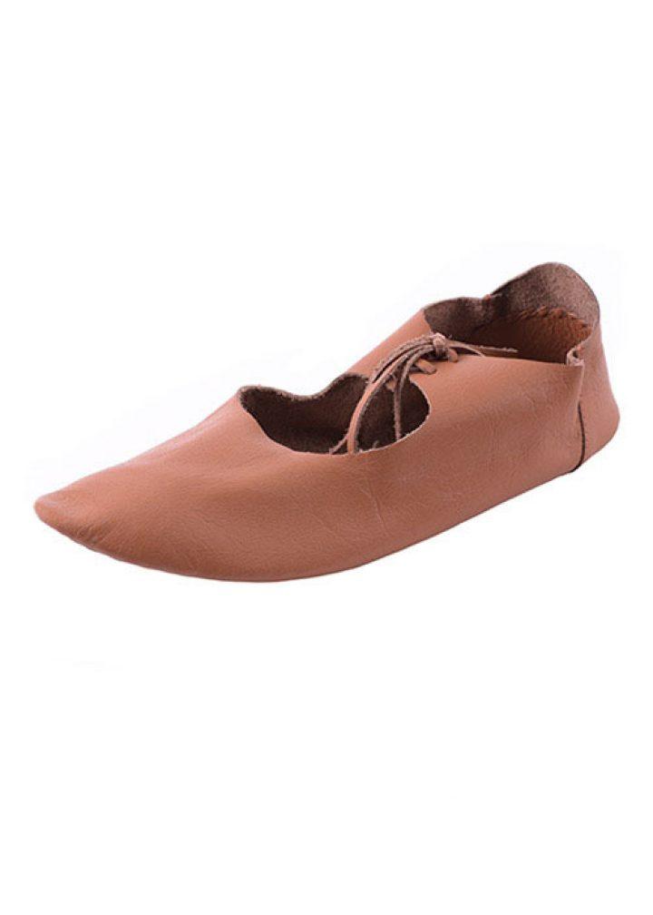 Mittelalter Flache Schuhe, Ristschnürung, wendegenäht