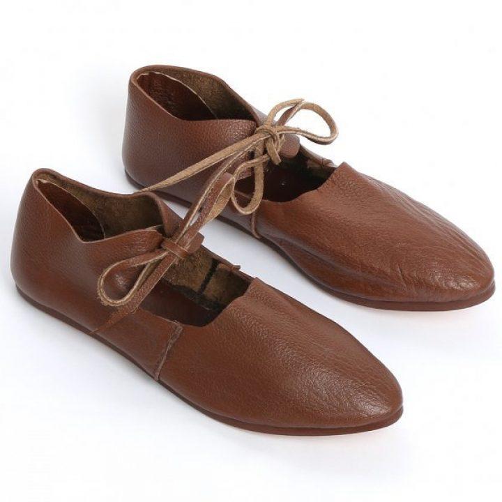 Mittelalter Damen Schuhe 12-15Jh.