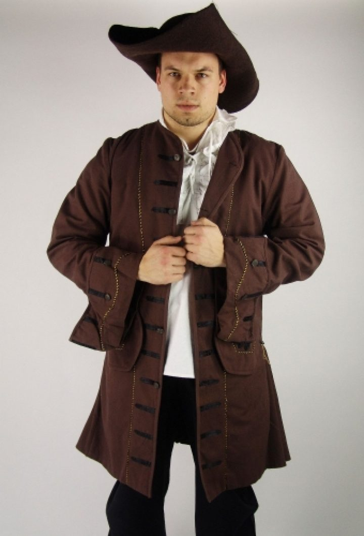 Middeleeuwse Piraten Jas in Bruin