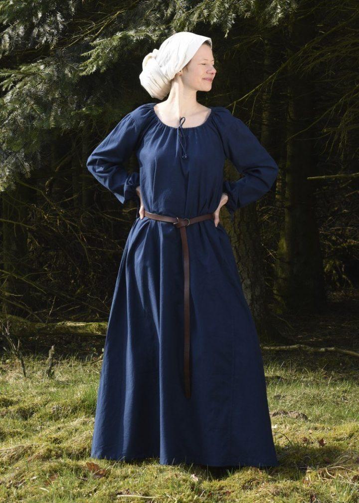 Mittelalterkleid, Unterkleid in blau