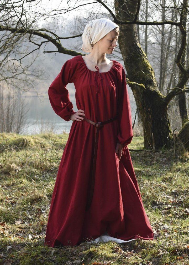 Middeleeuwse Jurk in Rood