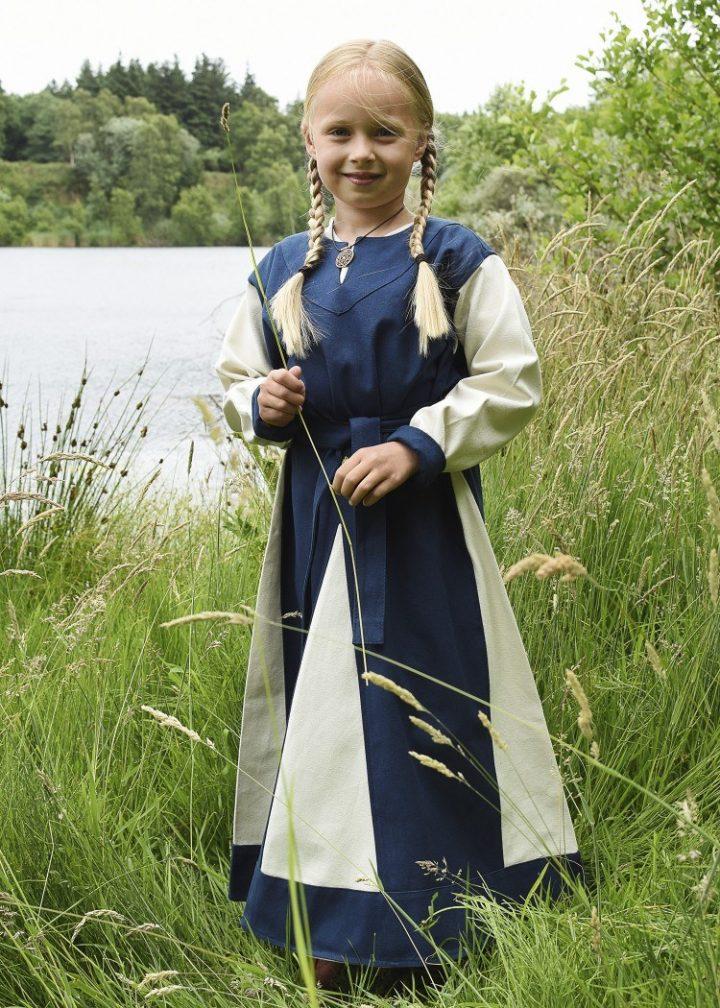 Viking Kinderjurk 9e-10e eeuws Blauw-Beige