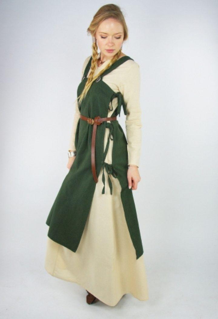 Middeleeuwse Over jurk in Groen