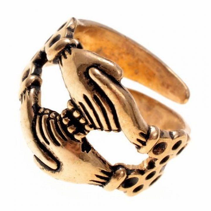 Replik eines Verlobungsrings aus dem Mittelalter in Bronze