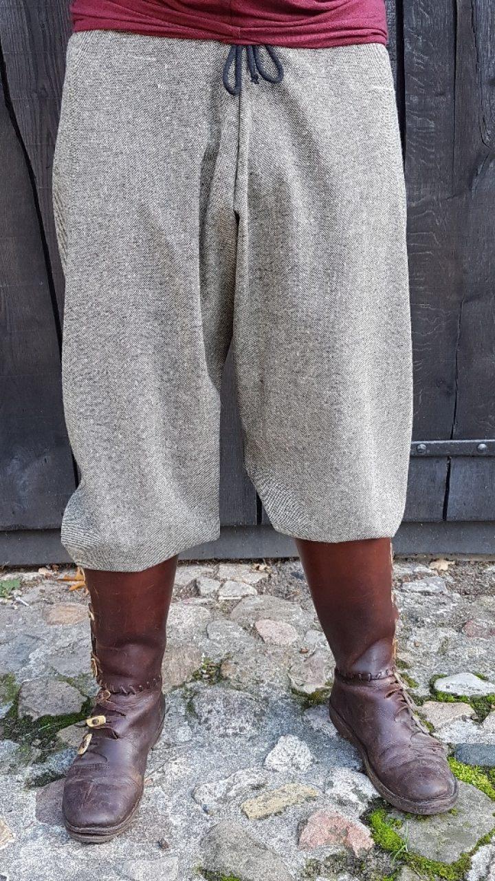 Viking Broek maat XL grijs gestipt