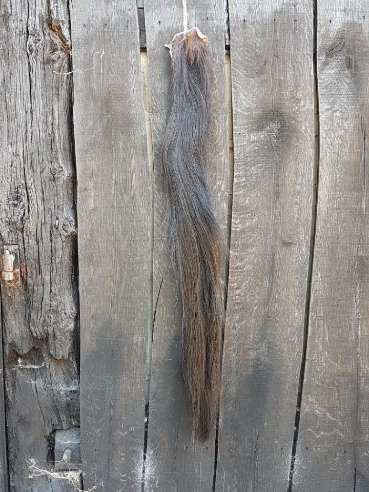 Paardenstaart donkerbruin 106 cm