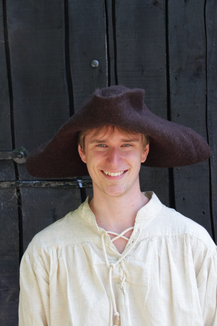 Piraten Hoed Gevilt Bruin