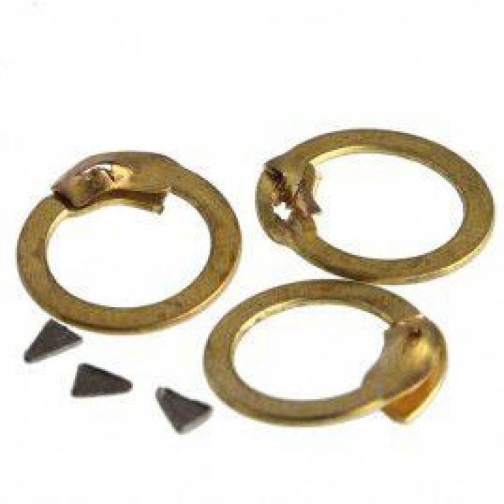 1 kg Malien Ronde Platte Ringen van Messing met Keilnieten ø 9 mm 0,6 mm dikma