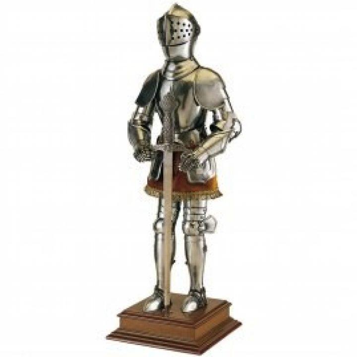 Miniatur Complet Ritter in Rüstung mit Schwert, 61cm
