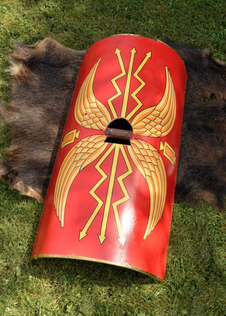 Scutum der römischen Legionäre ohne Schildbuckel
