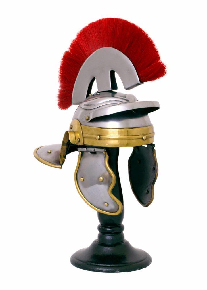 Miniatur Zenturio Helm mit Haarbusch