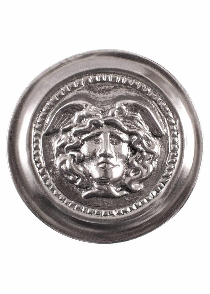 Römische Phalera aus Verzinntem Messing, Gorgone Medusa