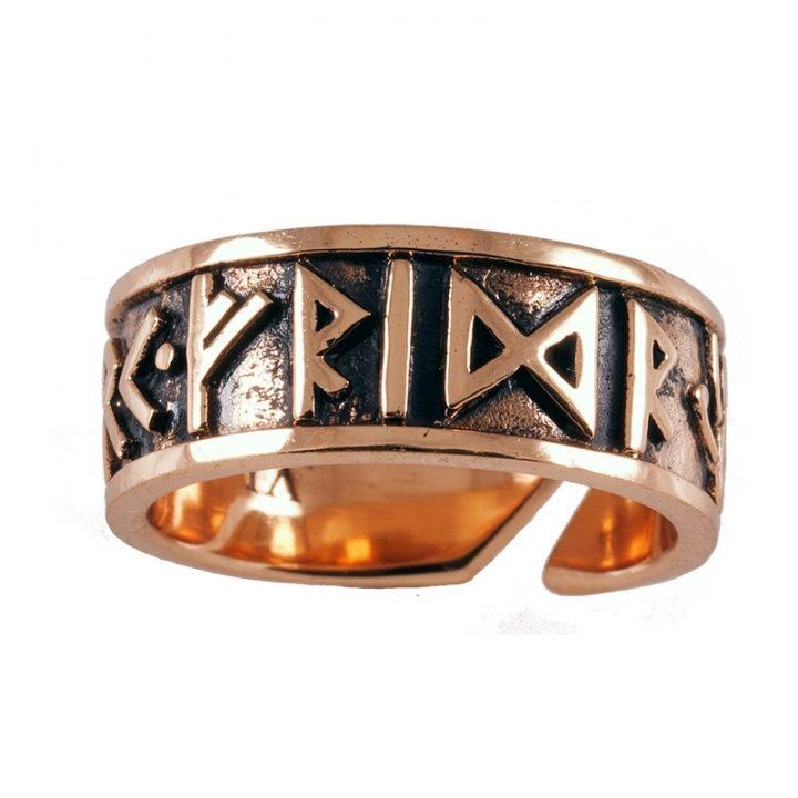 Viking Runen Ring Brons Groot