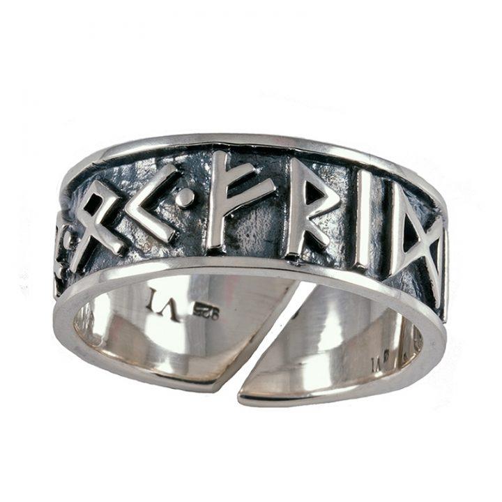 Viking Runen Ring Zilver Groot
