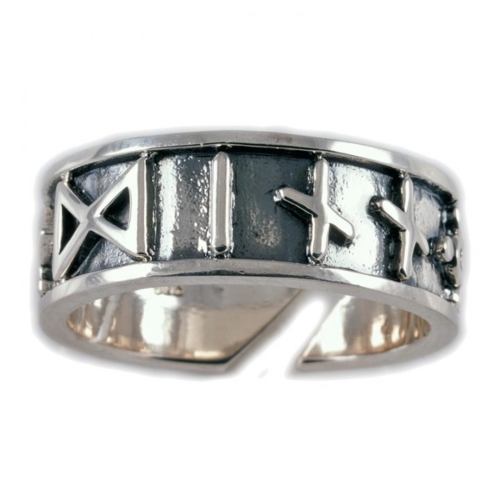 Viking Runen Ring Zilver Groot