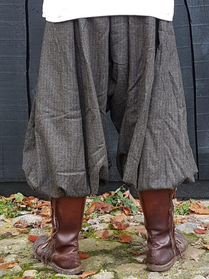 Viking Rusvik broek in maat M groen/bruin linnen