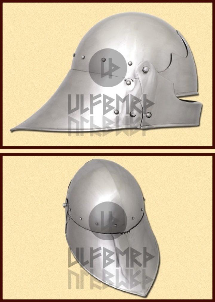 Duitse Sallet Helm 1480 n. Chr. in M en L